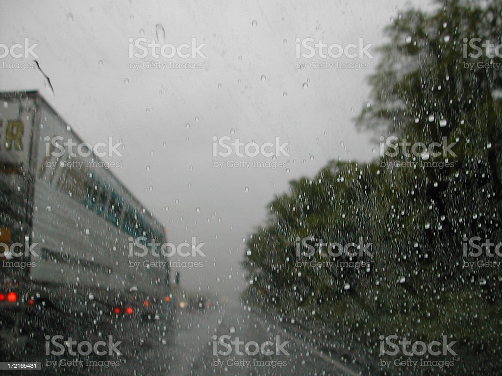driving in the rain 002 stock photo