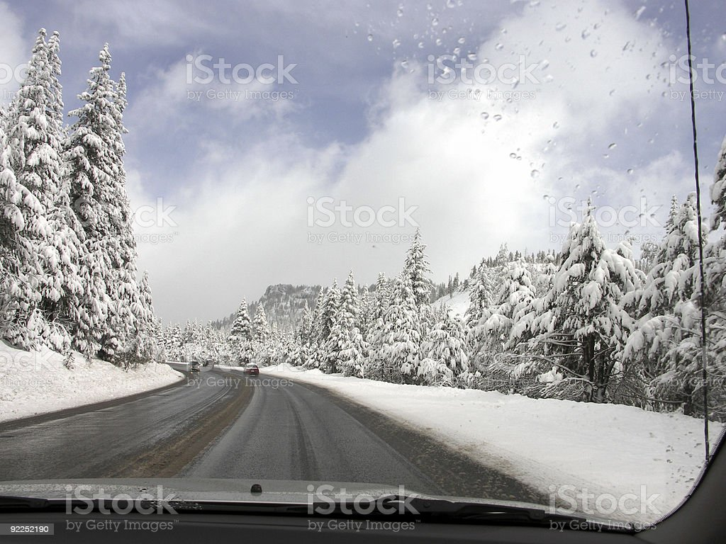 Driving in the Snow royalty-free stock photo