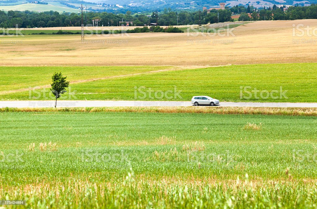 Driving in tuscany royalty-free stock photo