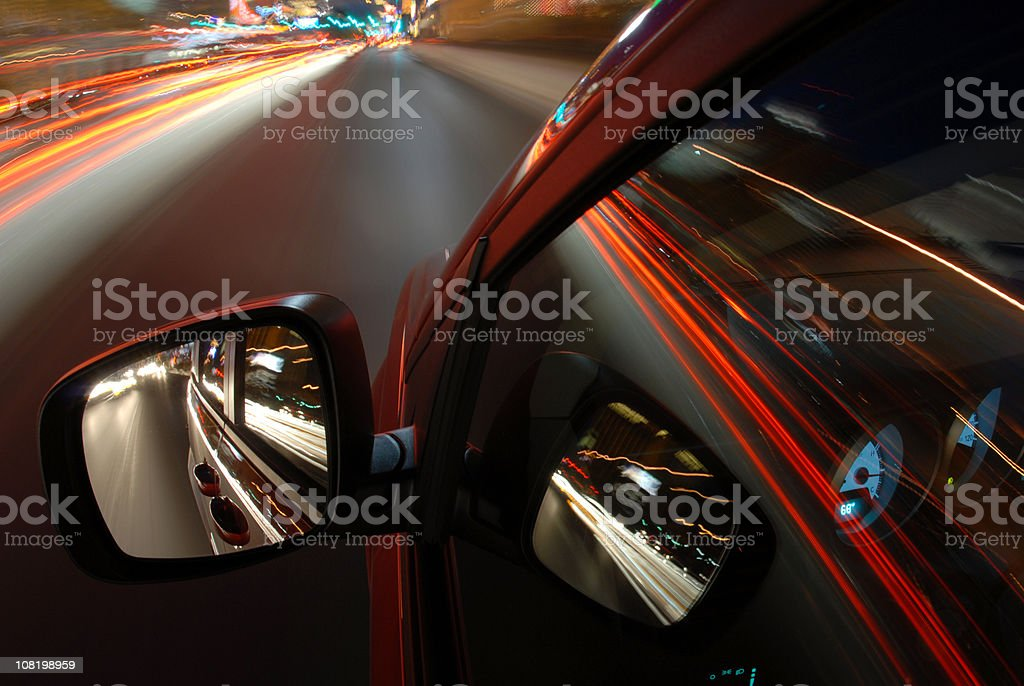 Driving in Vegas at Night royalty-free stock photo