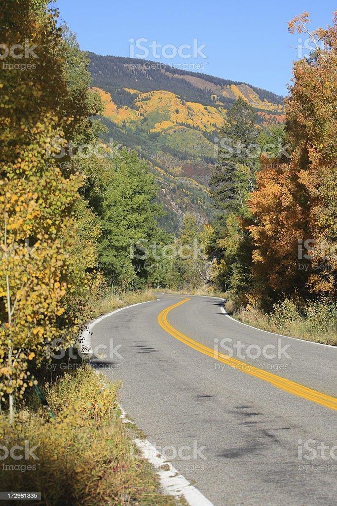 Guida a Aspen foto stock royalty-free