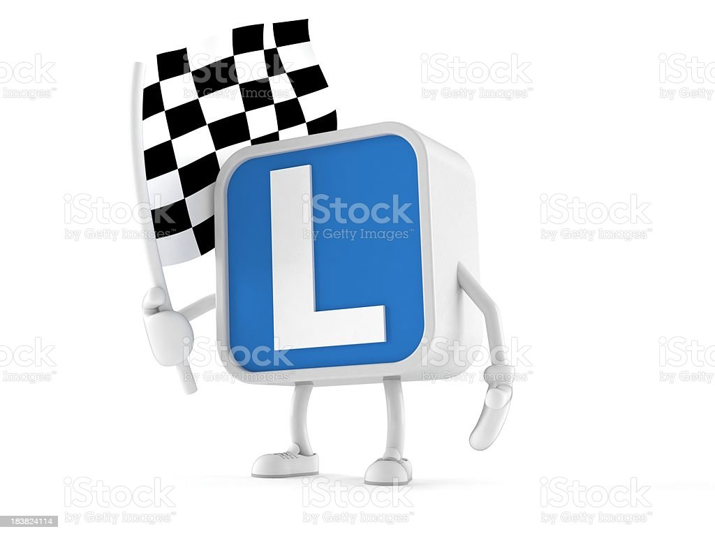 Driving lessons stock photo
