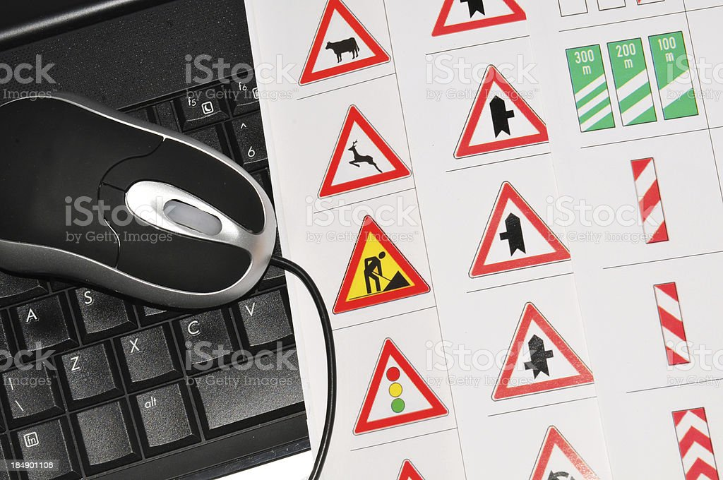 Driving licence stock photo