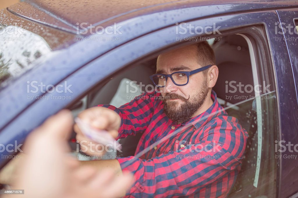 Driving licence verification stock photo