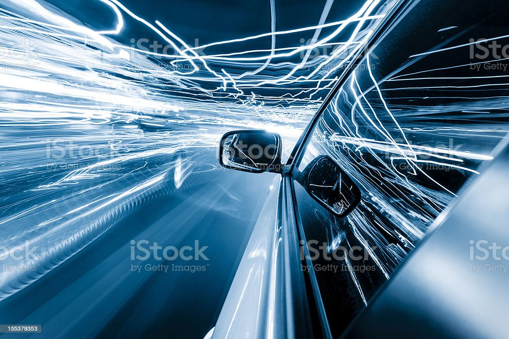Driving lights royalty-free stock photo