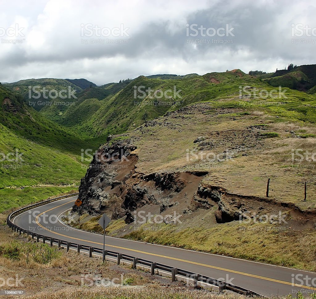 Driving Maui Island's Mountain Roads royalty-free stock photo