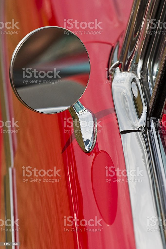 Driving mirror royalty-free stock photo