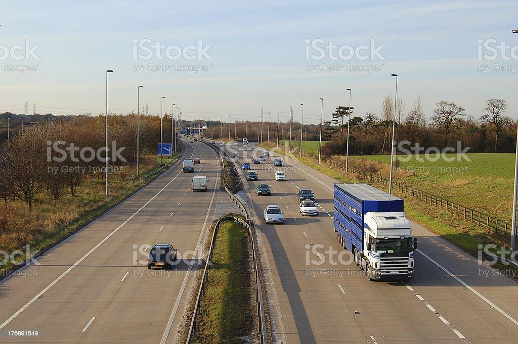 Driving - Motorway Traffic royalty-free stock photo