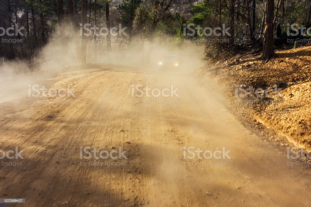 Driving off road stock photo