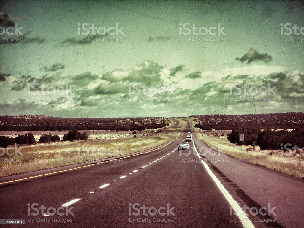 Driving on arizona state stock photo