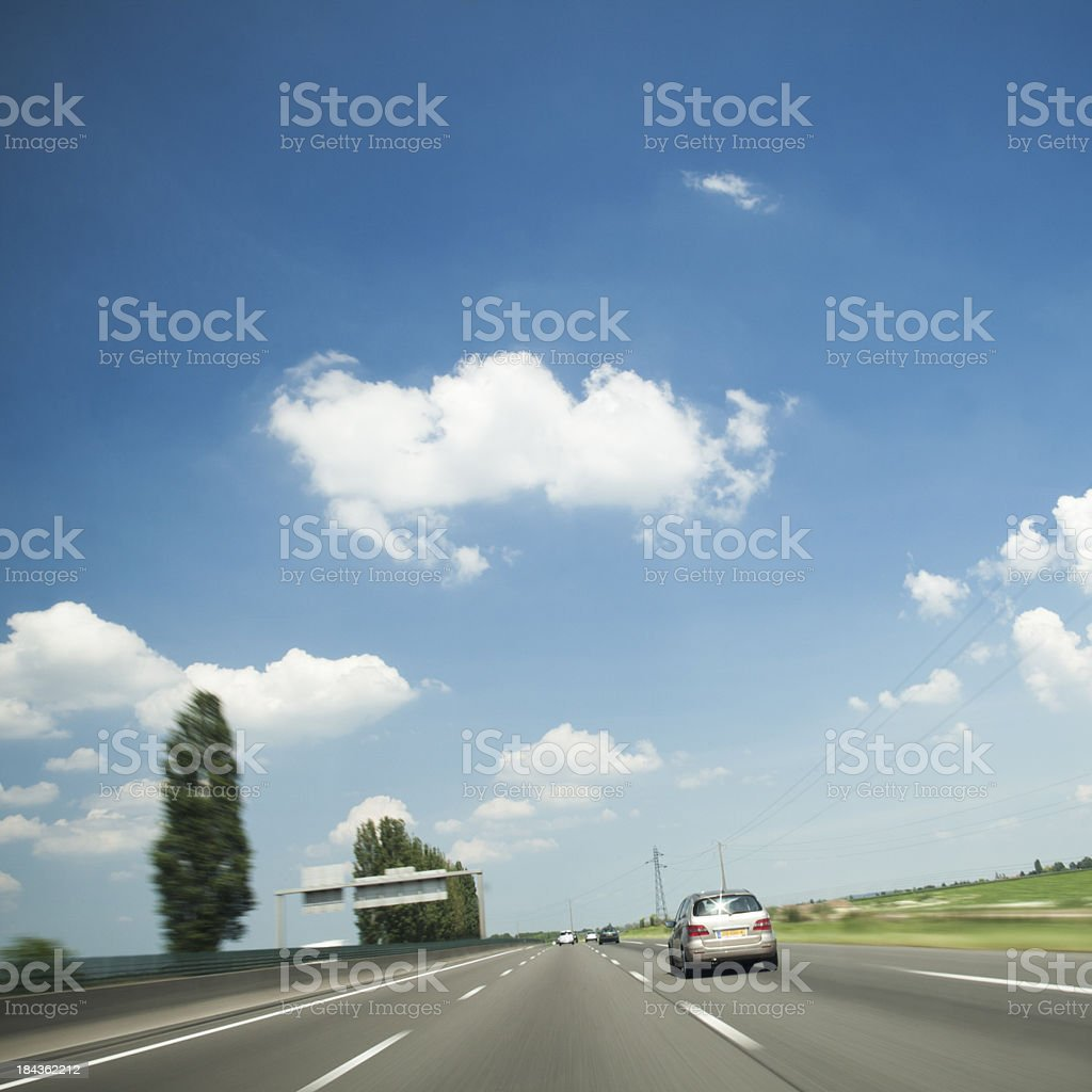Driving on french highway royalty-free stock photo