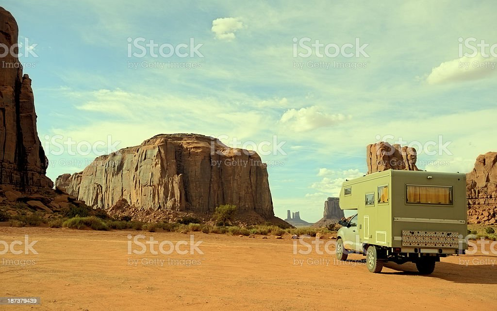 Driving on Monument Valley,Arizona,USA royalty-free stock photo