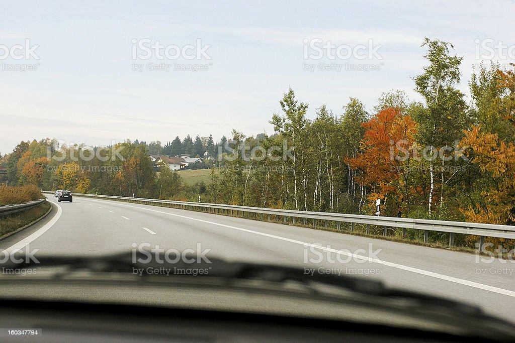 Driving on Motorway royalty-free stock photo