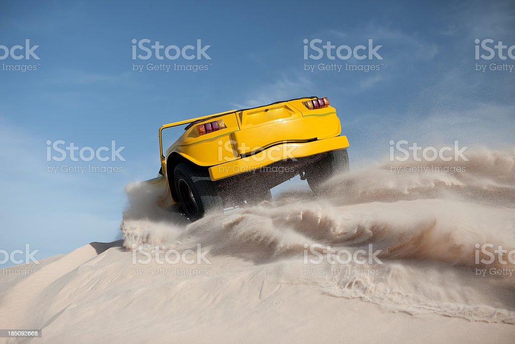 Driving on Sand, Jericoacoara, Brazil stock photo