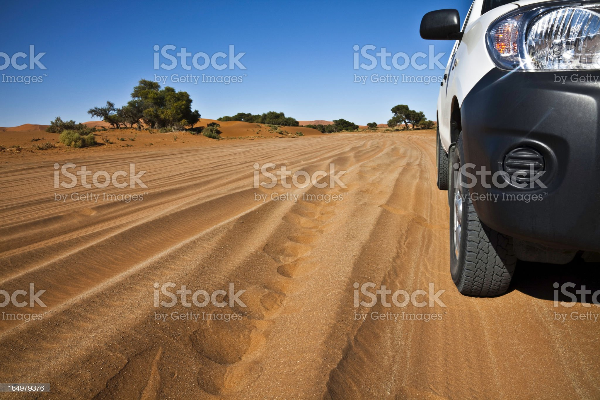 Driving on sand royalty-free stock photo