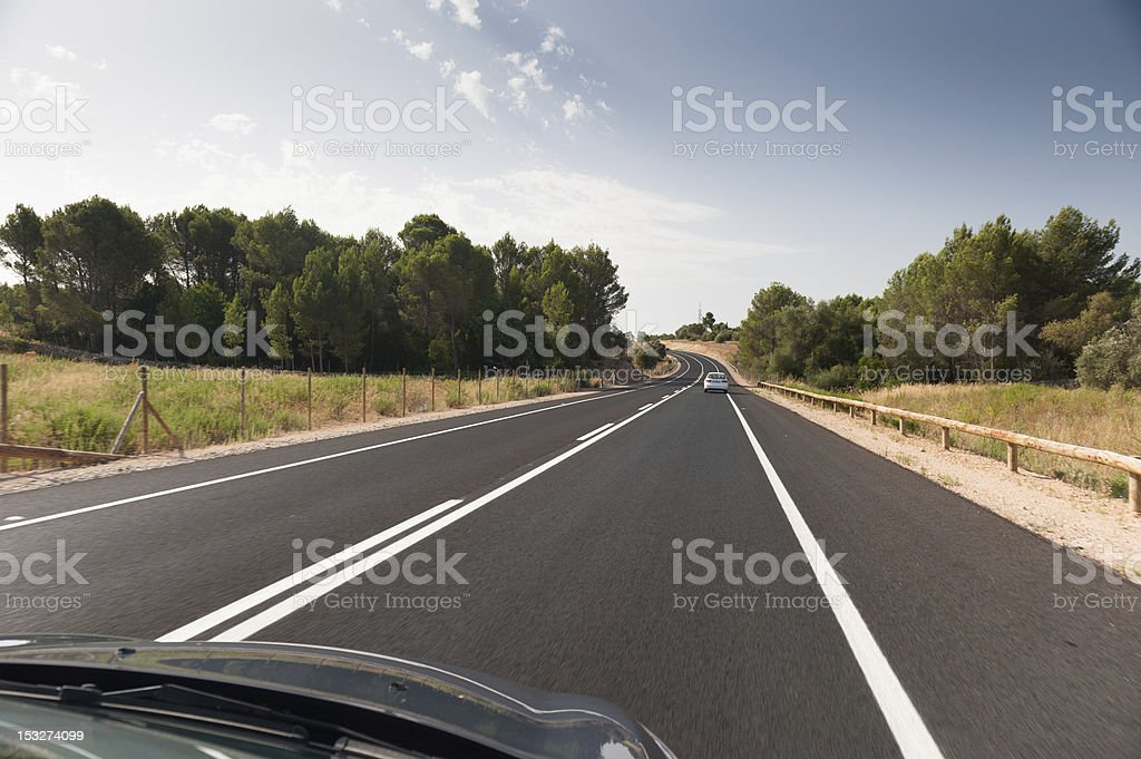 Driving on the streets of Mallorca stock photo