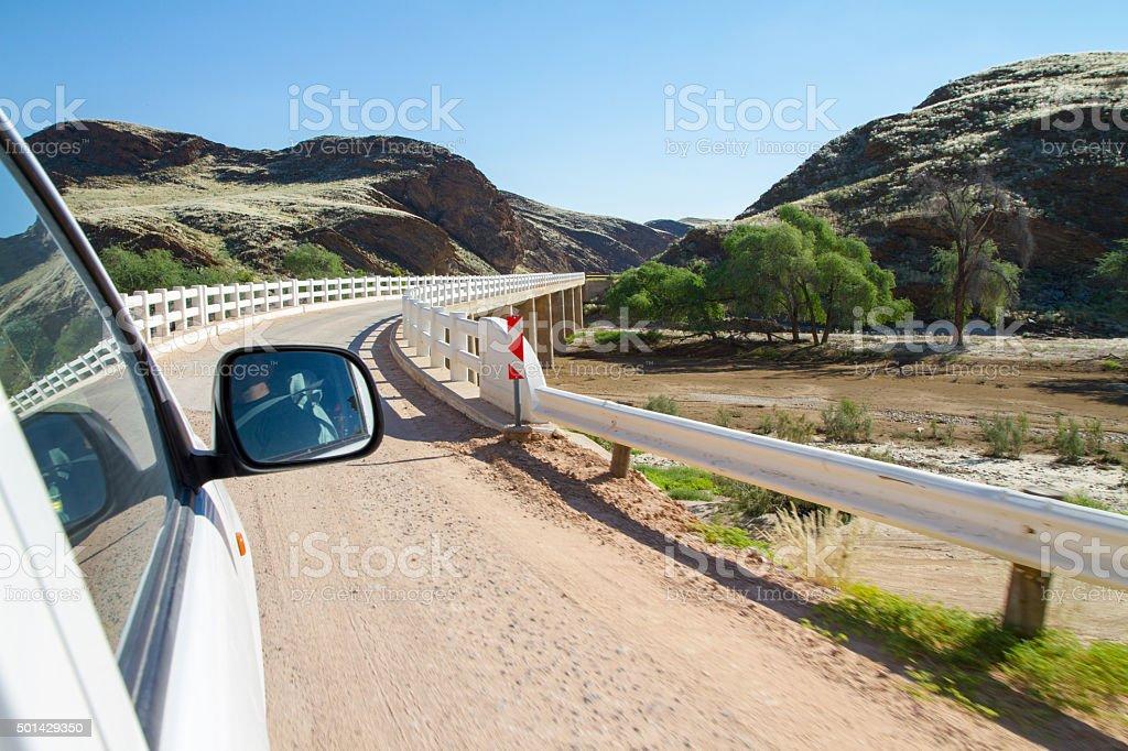 Driving Over The Bridge stock photo