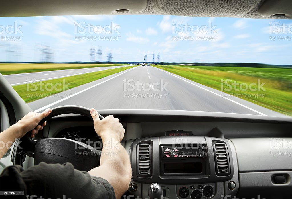 Driving stock photo