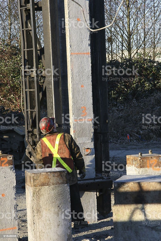 Driving Piles royalty-free stock photo