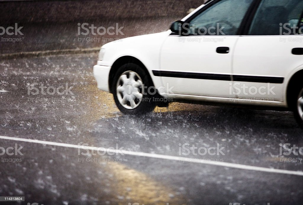 Driving rain royalty-free stock photo