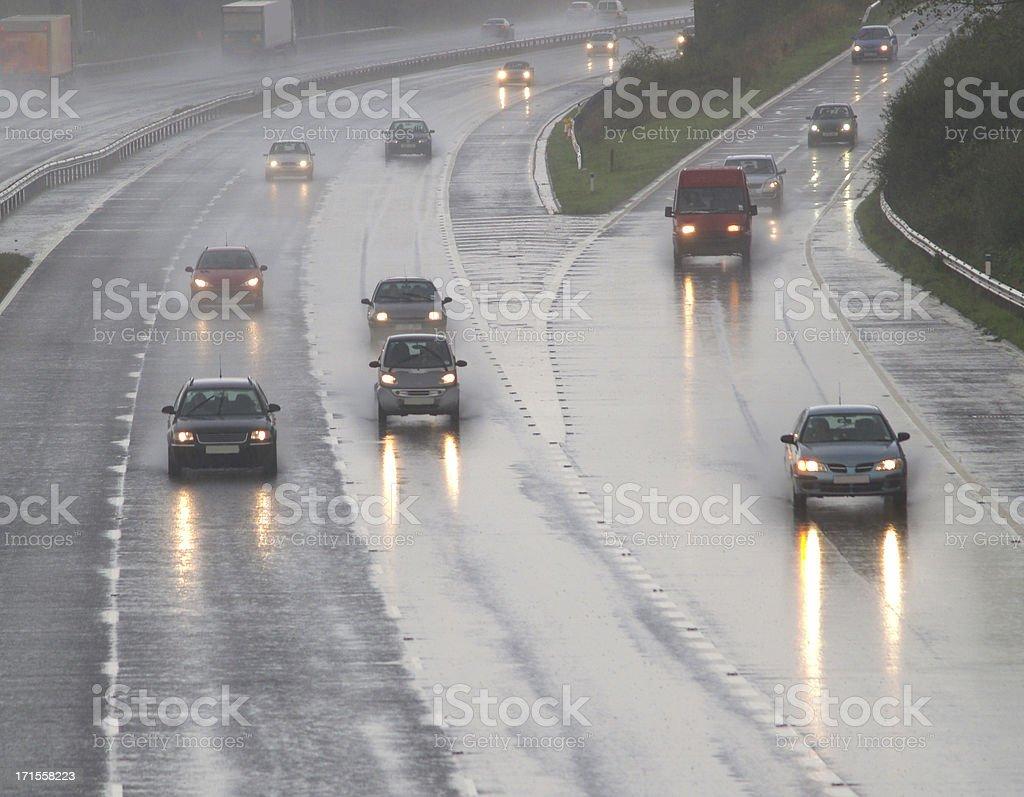 Driving Rain stock photo