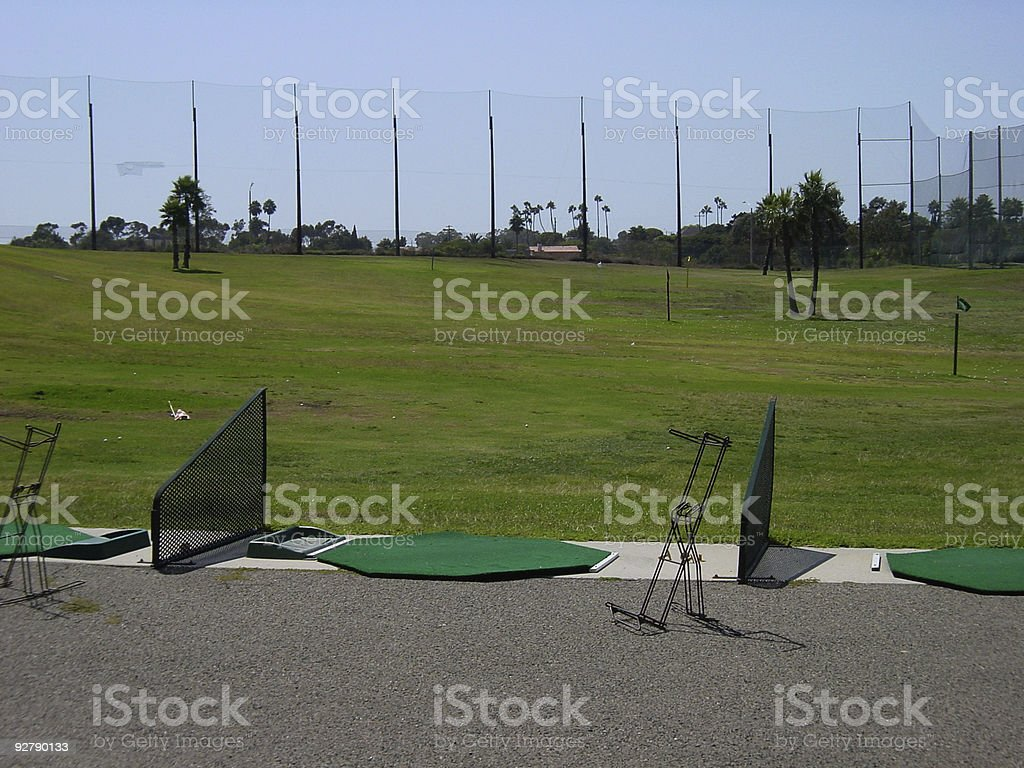 driving range empty royalty-free stock photo