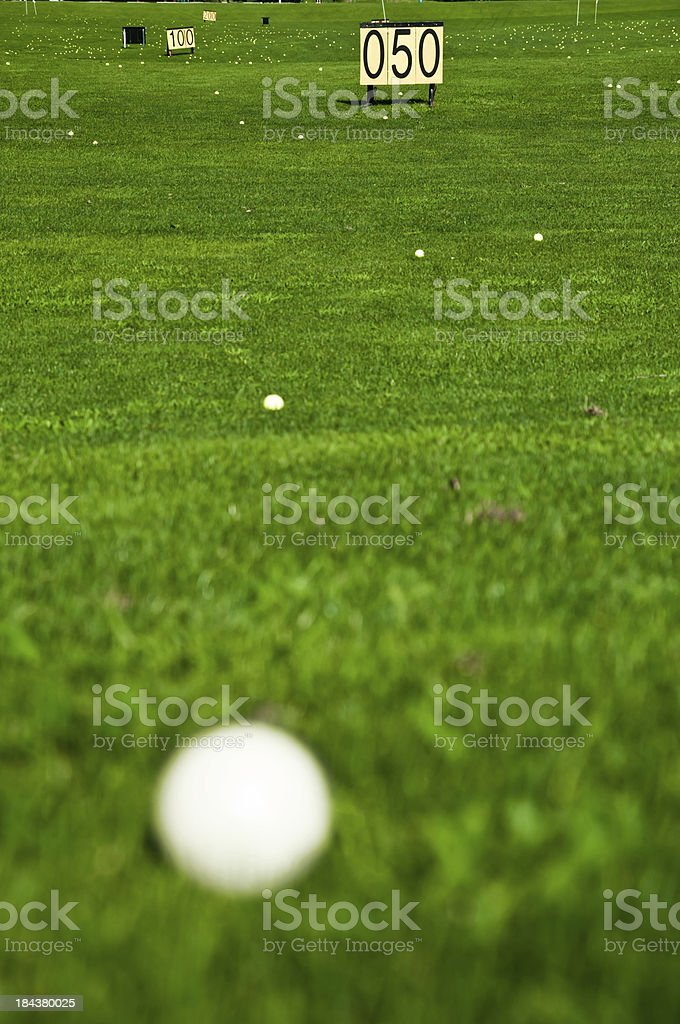 driving range on golf course royalty-free stock photo