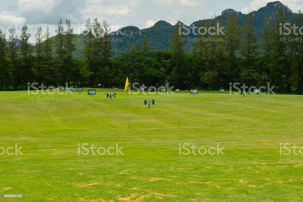 driving range stock photo