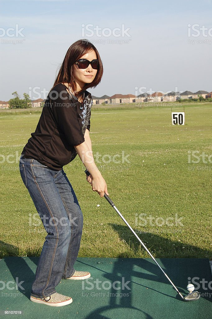 Driving range royalty-free stock photo