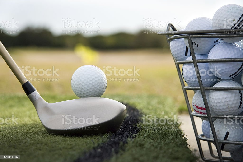 Driving range practice stock photo