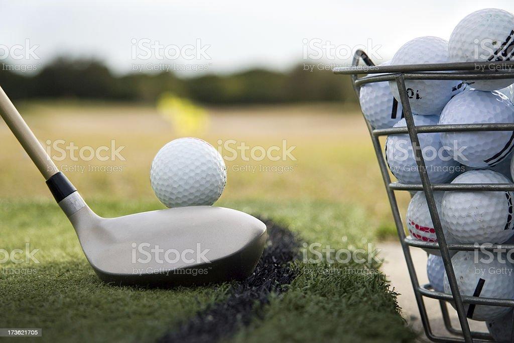 Driving range practice stock photo