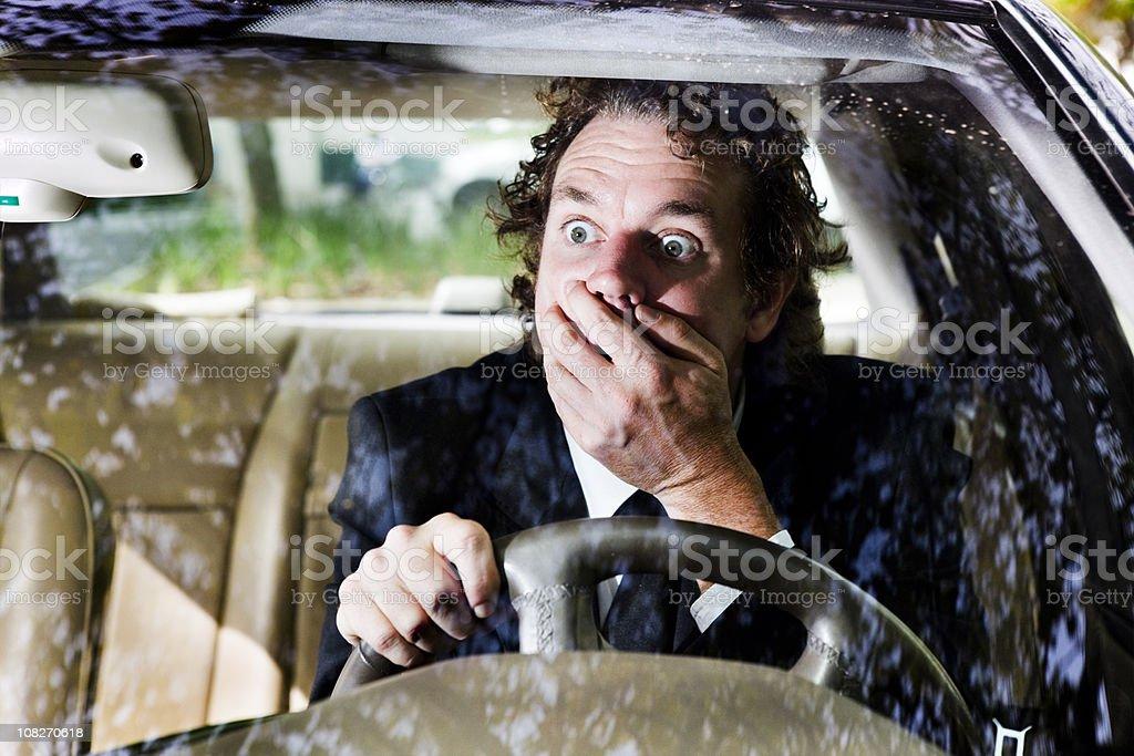 Driving shock stock photo