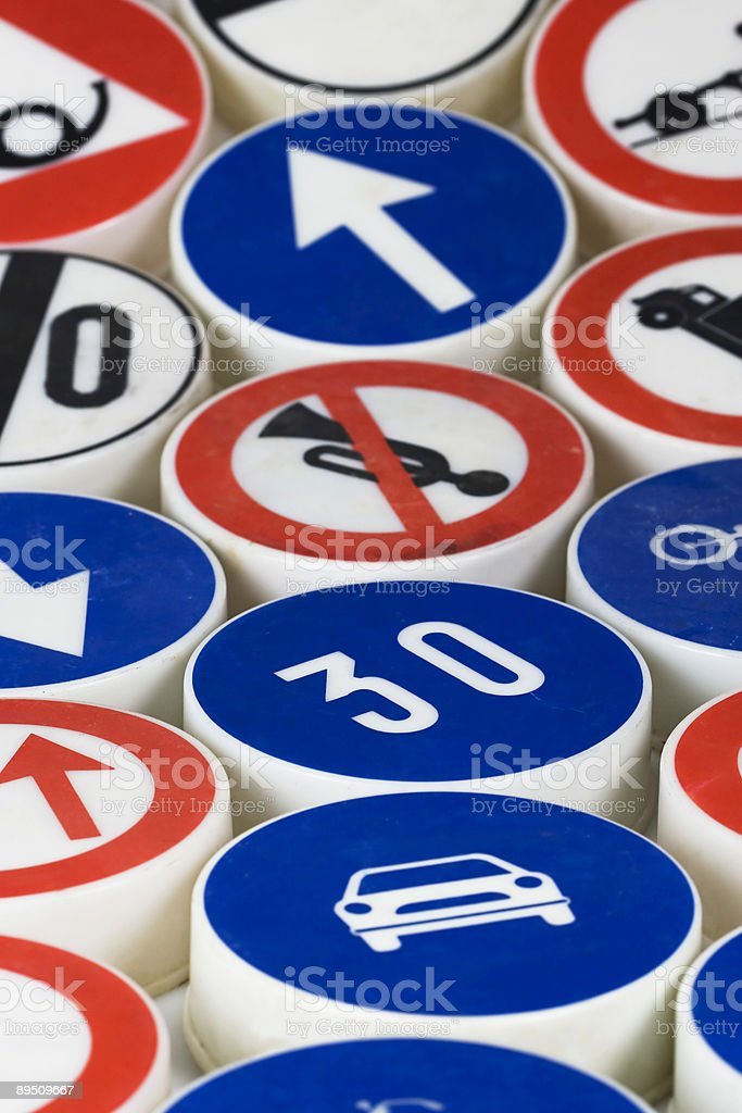 driving signs royalty-free stock photo