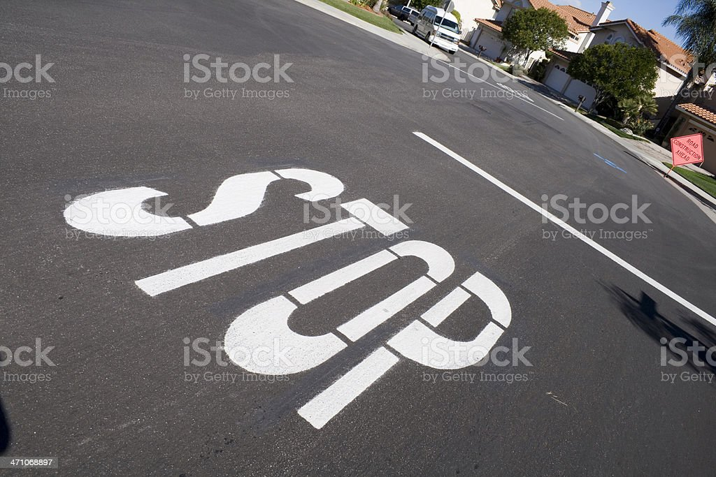 Driving Signs - STOP Sign royalty-free stock photo