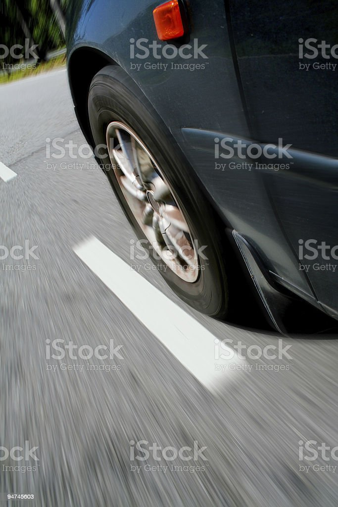 Driving Speed royalty-free stock photo
