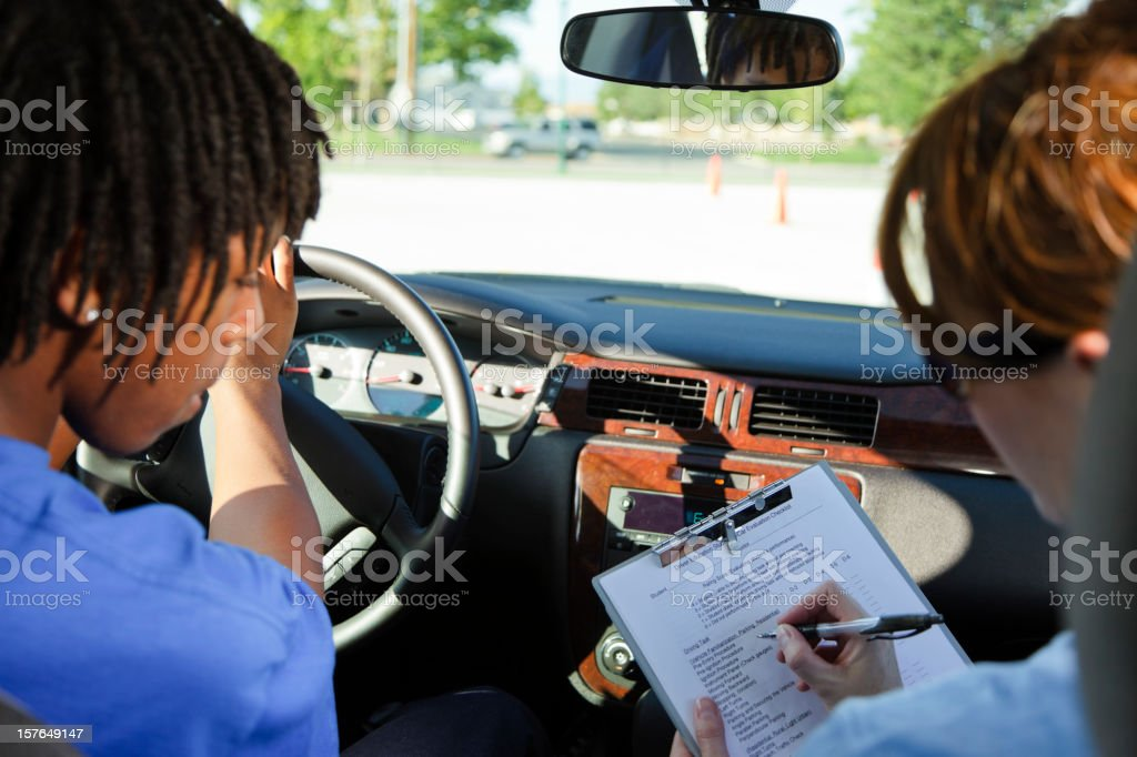 Driving Test royalty-free stock photo