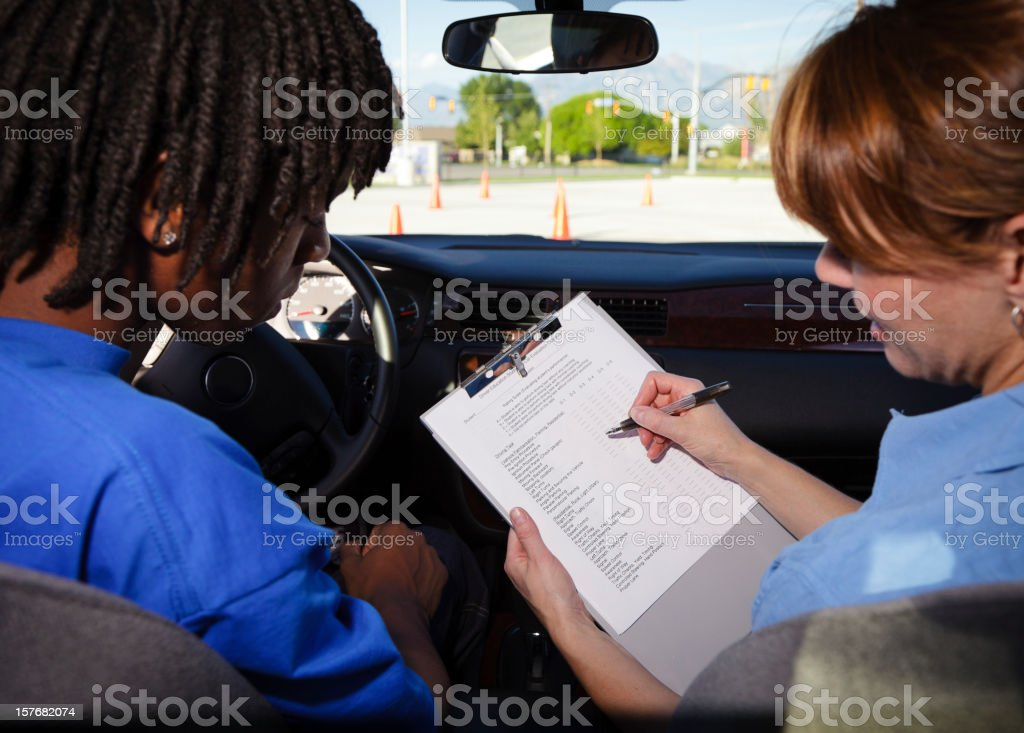 Driving Test stock photo