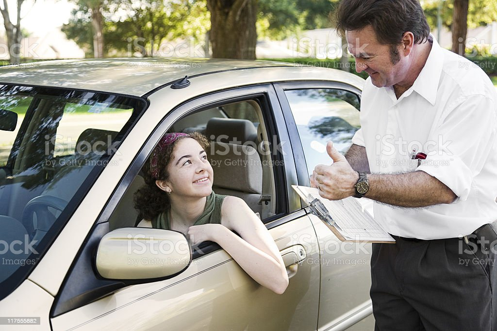 Driving Test - You Passed royalty-free stock photo