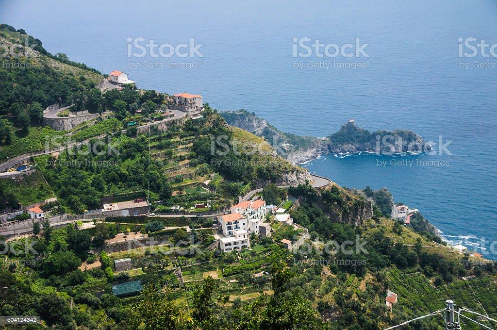 Driving the Amalfi Coast stock photo