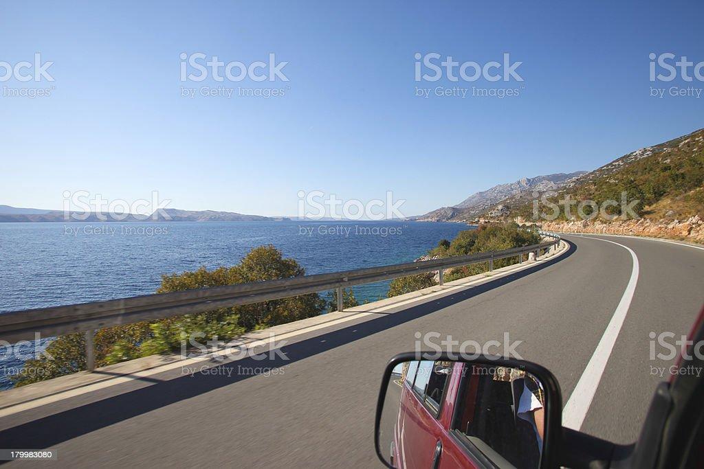 Driving the Croatian coast royalty-free stock photo