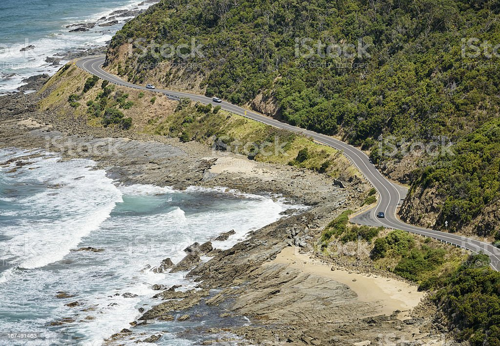 Driving The Great Ocean Road stock photo