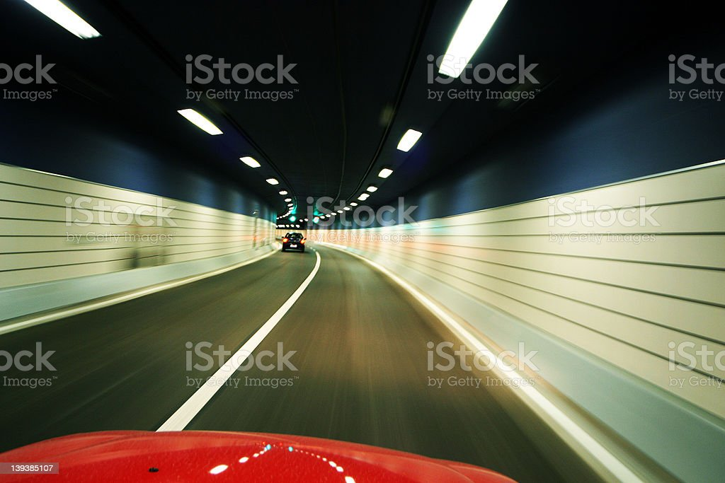 Driving through a Tunnel royalty-free stock photo