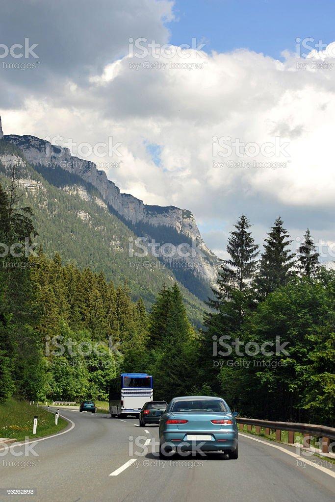 driving through Austria royalty-free stock photo