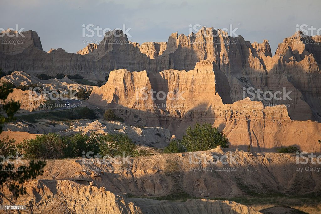 Driving through Badlands National Park SD royalty-free stock photo