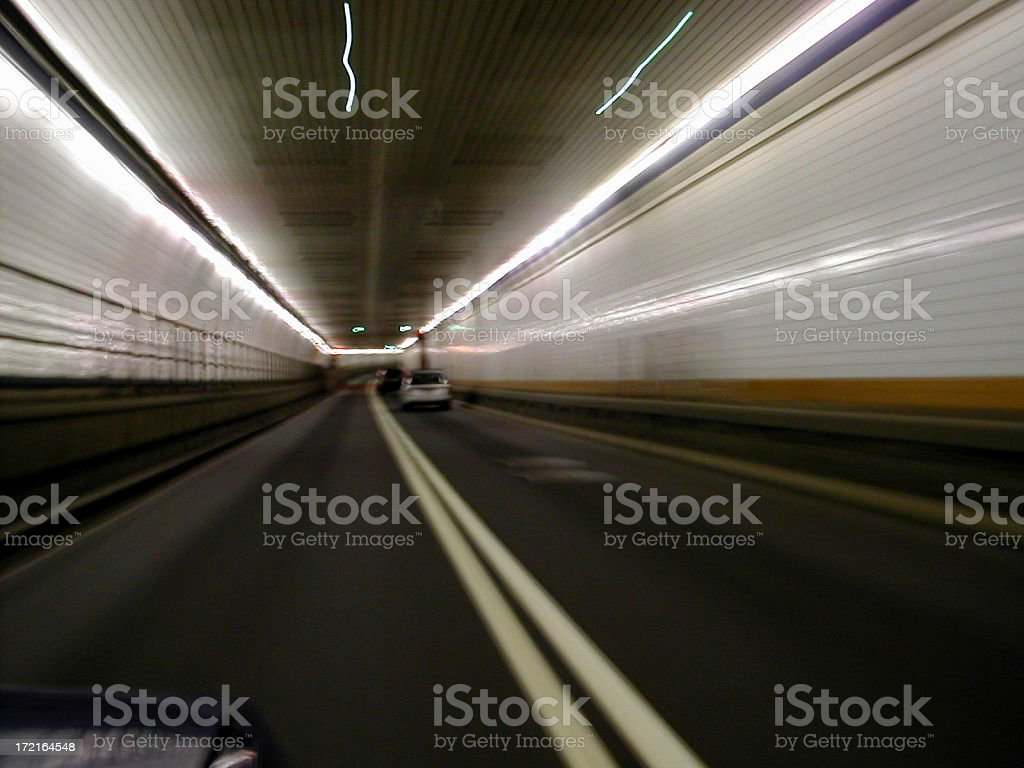 driving through holland tunnel 02 royalty-free stock photo