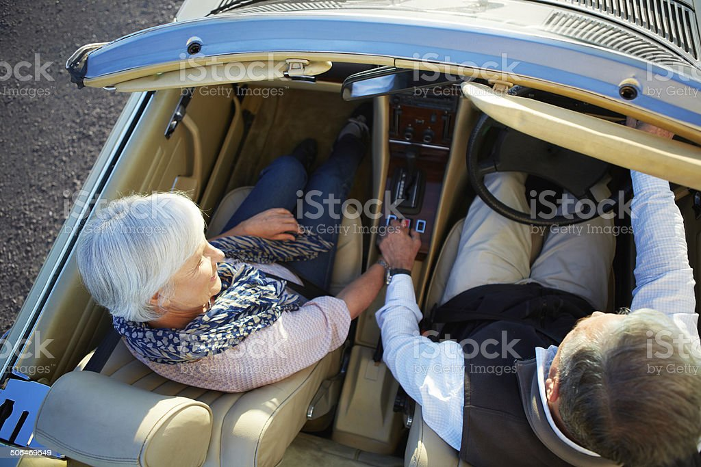 Driving through life together royalty-free stock photo