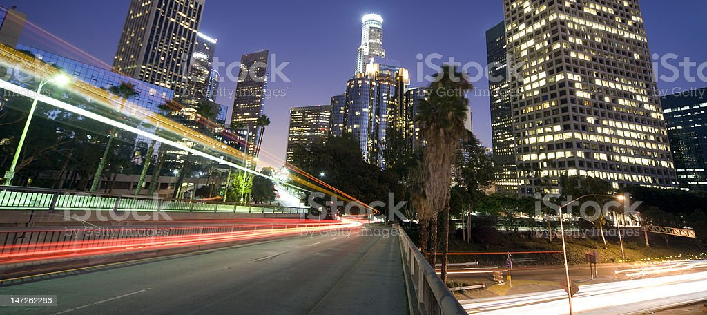 Driving through Los Angeles stock photo