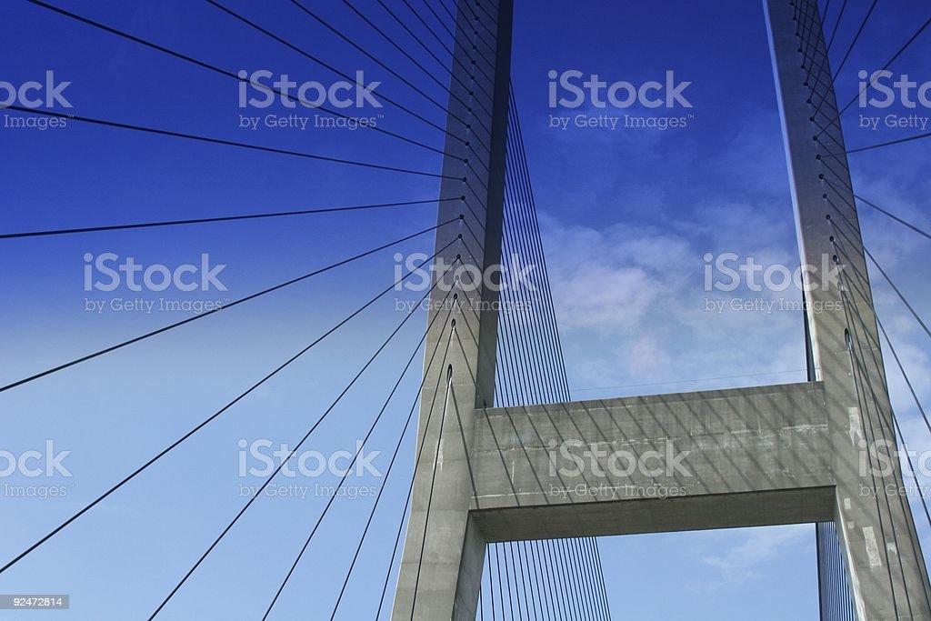 Driving Through Suspension Bridge royalty-free stock photo