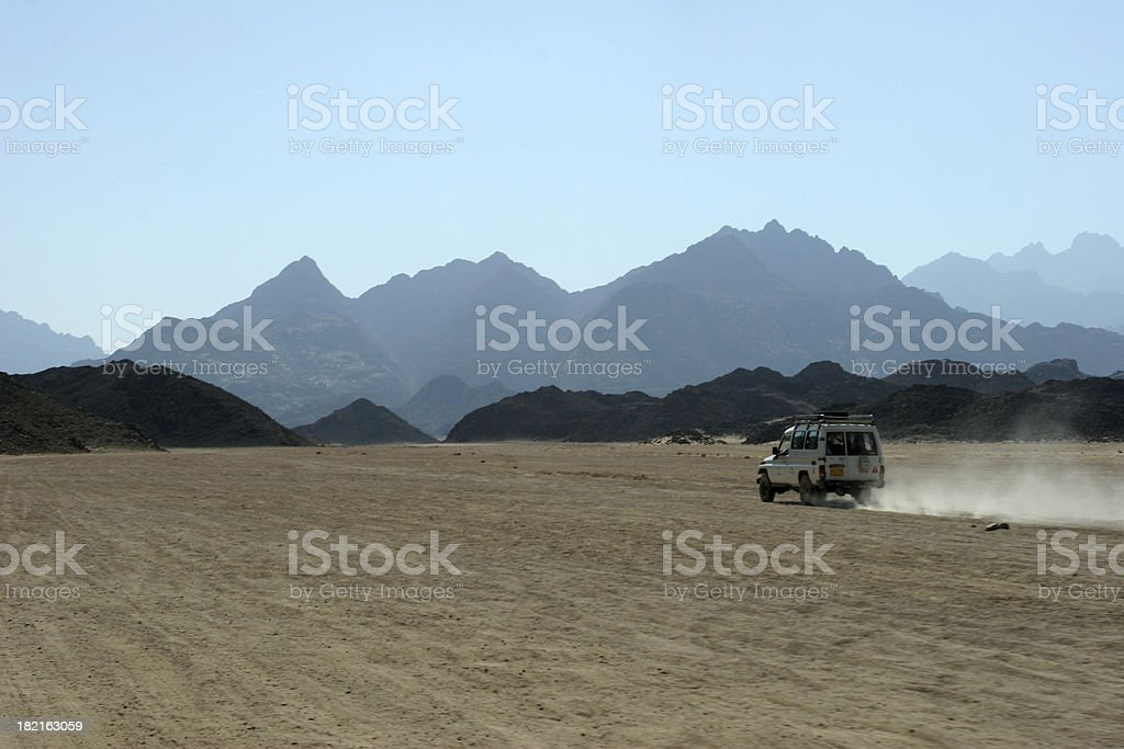 Driving Through the Desert royalty-free stock photo