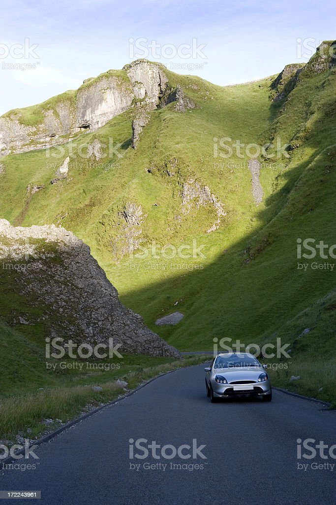 Driving through the hills royalty-free stock photo